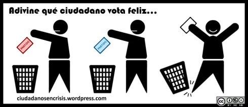 Entrevista voto en blanco / Voto feliz