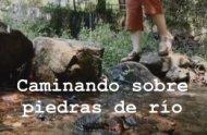 Caminando sobre piedras de río