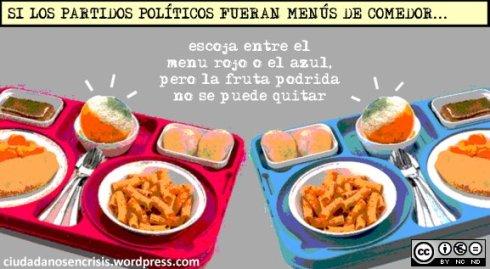 Si los partidos políticos fueran menús