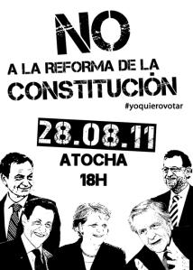 No a la reforma de la constitución
