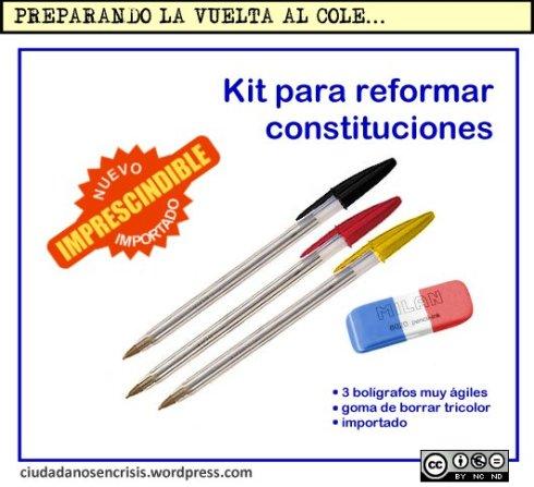 Kit para reformar constituciones