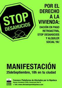 Manifestación PAH 25S