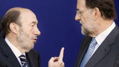 Por aquí se va a Madrid, le dice Rubalcaba a Rajoy
