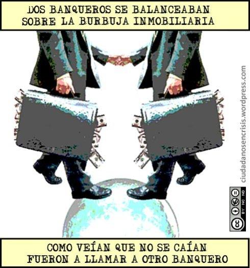 Dos banqueros se balanceaban