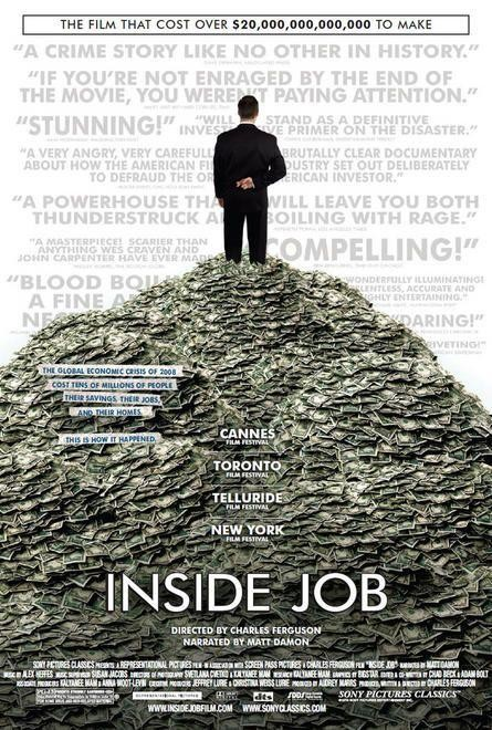 Cartel del documental Inside job