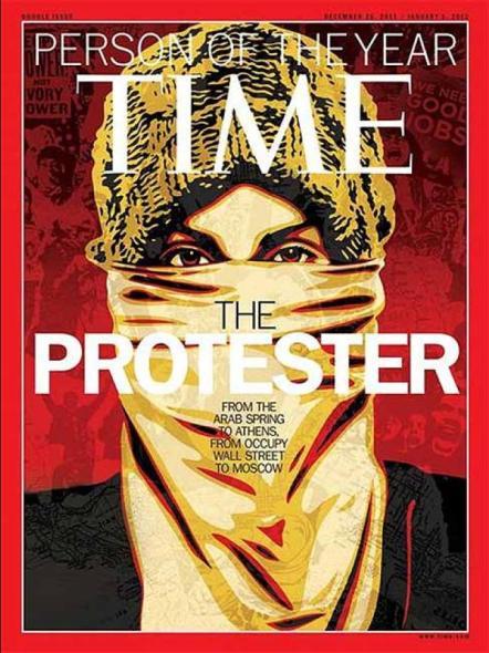 Manifestante, personaje del año de Time
