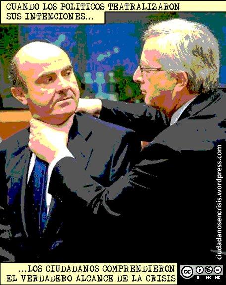 Junckers estrangulando a De Guindos