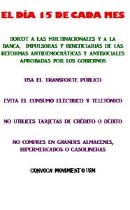 huelga de consumo 15M