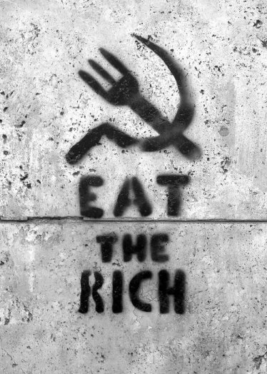 eat the rich graffitti