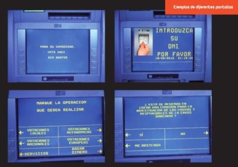 El cajero automático para votaciones ciudadanas