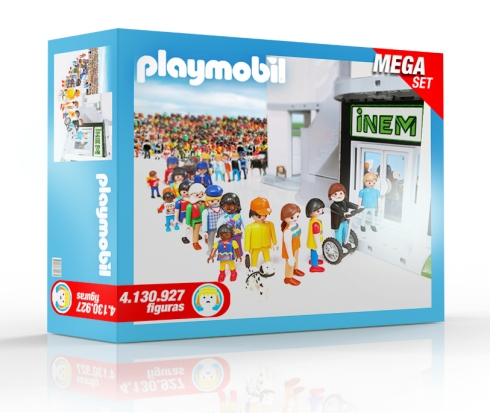 Caja de Playmobil con más de 4 millones de parados