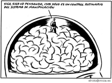 Viñeta de El Roto sobre el control del pensamiento