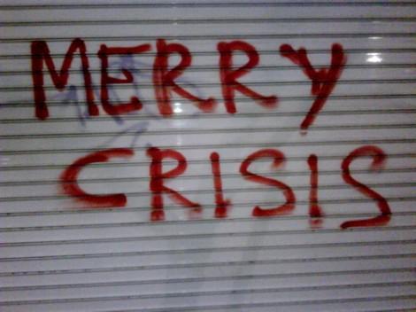 feliz navidad en crisis