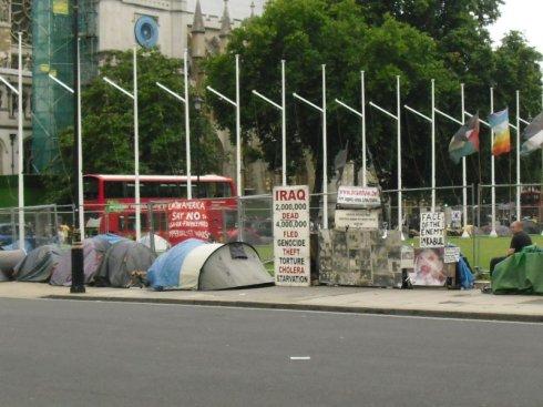 Acampada por la paz Londres