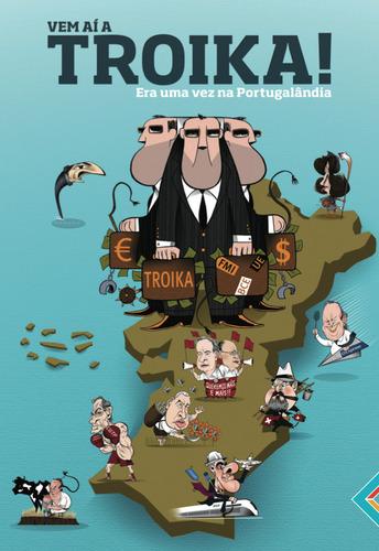 Juego de cartas satírico sobre la llegada de la troika a Portugal.