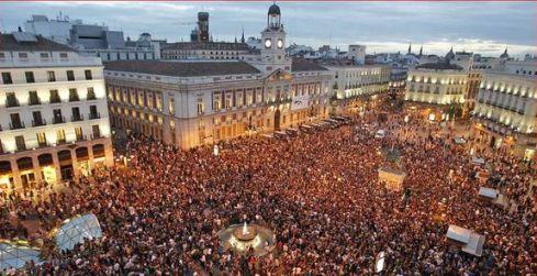 El movimiento 15M en la Puerta del Sol