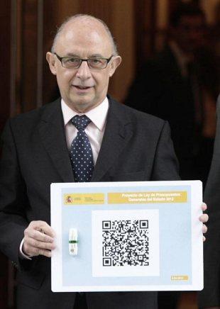 El ministro de economía usa códigos QR