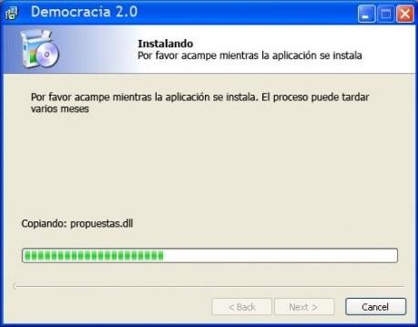 instalación de la democracia 2.0